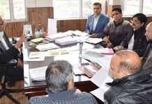 Principal Secretary Planning Rohit Kansal chairing a meeting on Wednesday.
