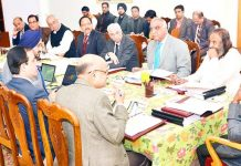 SMVDSB meeting being chaired by Lieutenant Governor Girish Chandra Murmu in Jammu on Thursday.