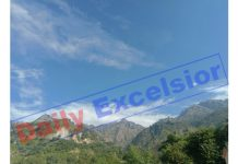 A beautiful view of the mountainous region of Reasi. —Excelsior/Karandeep
