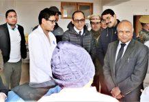 LG R.K Mathur during visit to SNM Hospital Leh.