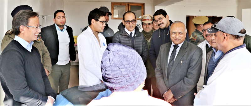 LG R.K Mathur during visit to SNM Hospital Leh.