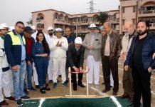 Dr Arvind Khajuria, acting Director Principal and Dr Ravinder K. Gupta, Prof & Head Paediatrics inaugurating Sports Day at ASCOMS in Jammu.