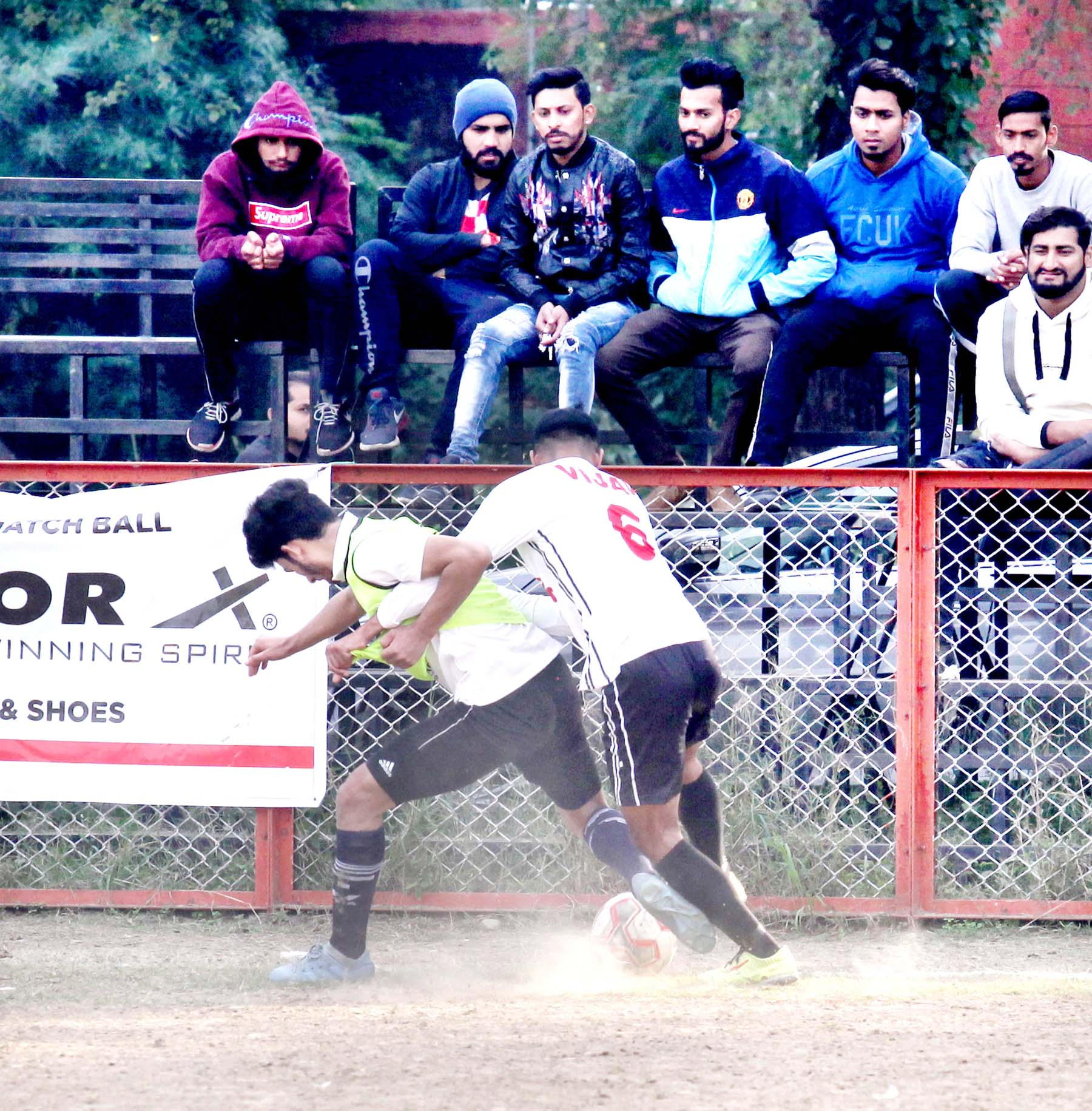 Players in action during 13th Christmas Gold Cup Football Tournament. -Excelsior/Rakesh