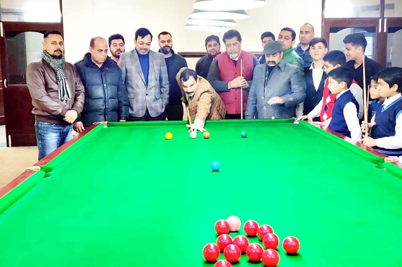 SSP Randeep Kumar inaugurating Snooker & Billiards C'ship at MA Stadium on Saturday. -Excelsior/Rakesh
