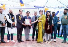 Memento presentation during Annual Day celebration at Jagriti Public School, Sanji Morh in Kathua.