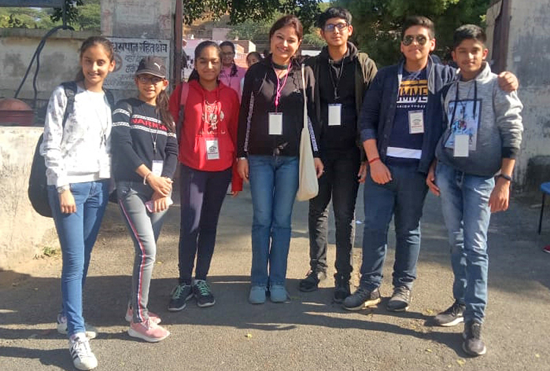 KCPS students after attending Round Square Service Camp at Ajmer.