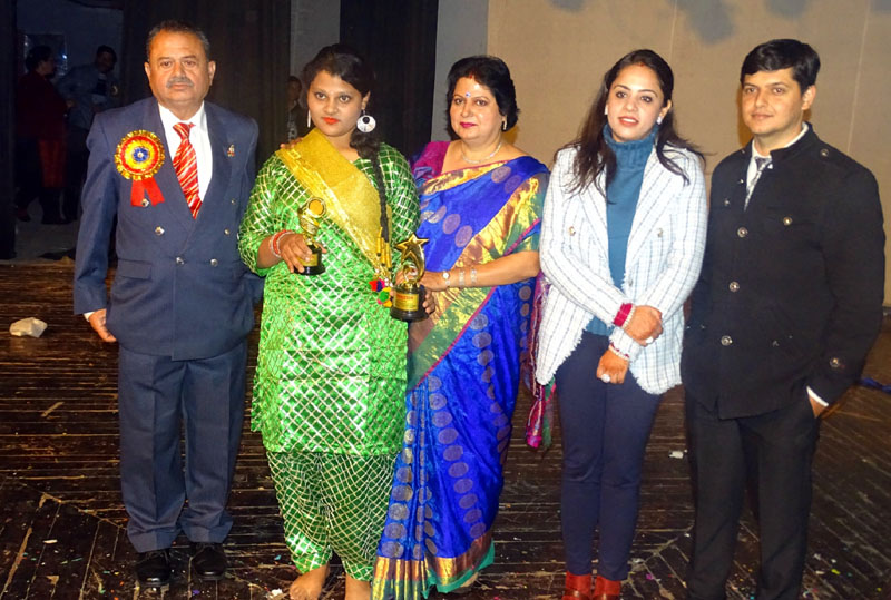 Dignitaries during Annual Day celebration of Heaven Kingdom High School at Abhinav Theatre in Jammu.