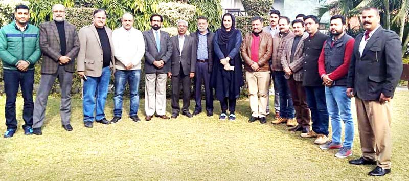 Press Council of India team with Press Club Jammu members and Director Information J&K.