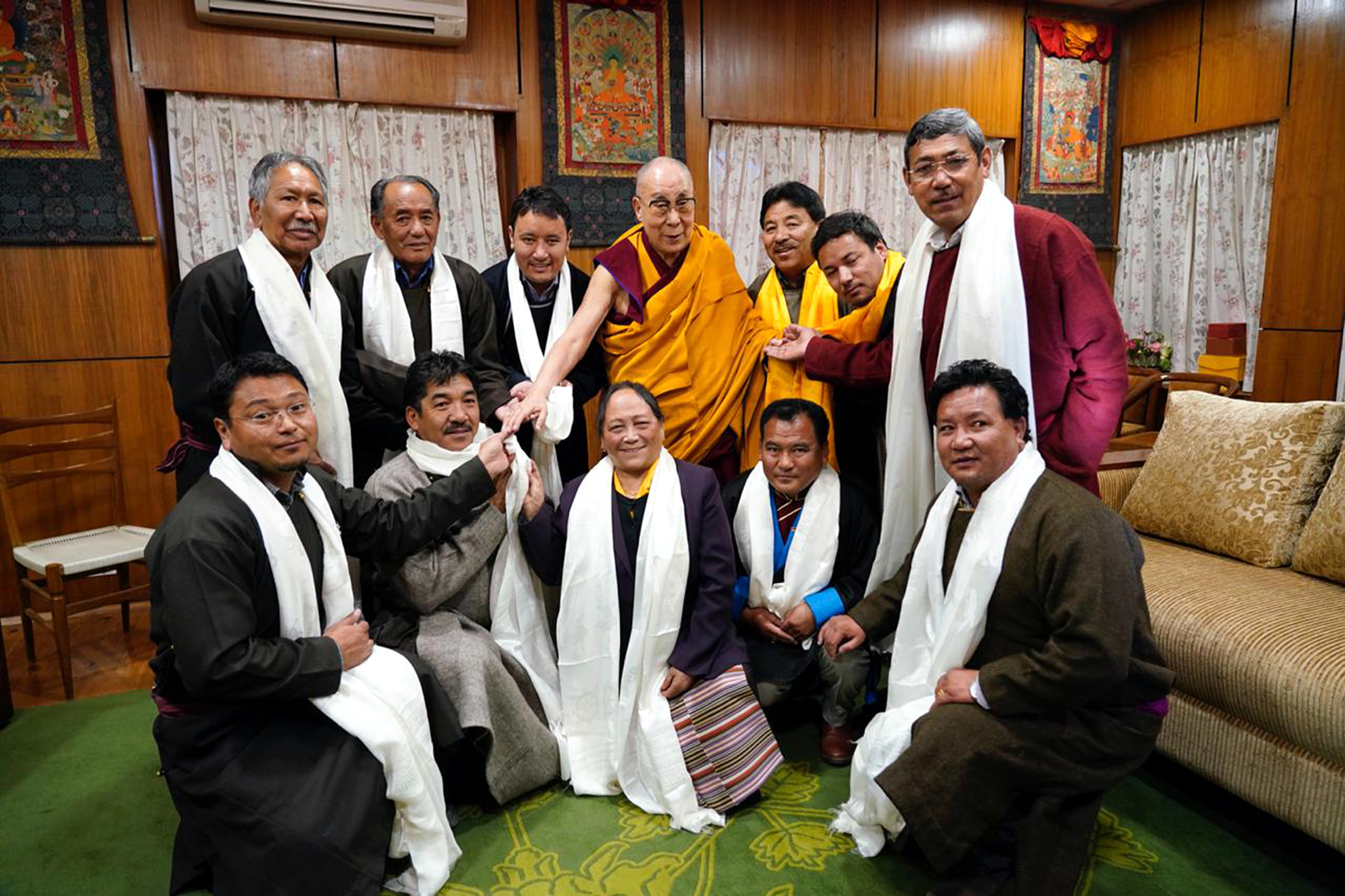 Members of LAHDC Leh meeting with Dalai Lama at Dharamshala.