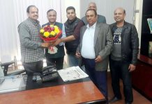 BBIA delegation at meeting with PCB Chairman, Suresh Chug in Jammu on Wednesday.