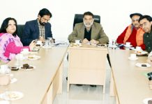 PCI team holding meeting with video & photo journalists in Jammu on Thursday.