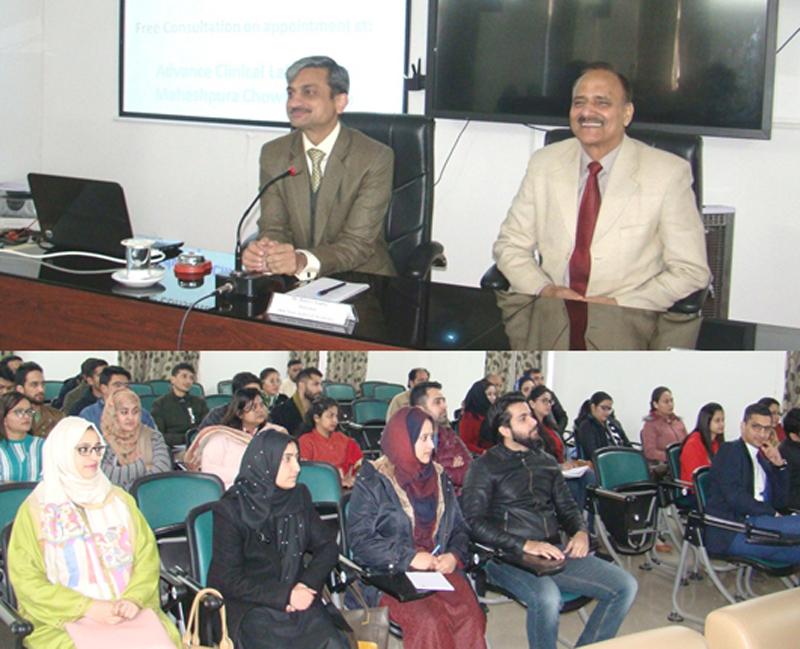 Director Judicial Academy, Rajeev Gupta interacting with Munsiffs in Jammu on Sunday.