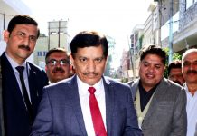 J&K Bank CMD Rajesh Kumar Chhibber inaugurating an ATM at Bakshi Nagar, Jammu.