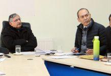 Advisor to LG Ladakh, Umang Narula chairing a meeting on Friday.