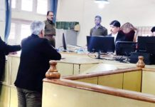 Principal District and Sessions Judge Rajouri Jaffer Hussain Beg during video conferencing at District Court complex Rajouri on Monday.