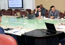 Lt Governor chairing a meeting on Wednesday.