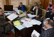 Principal Secretary Tourism chairing a meeting on Wednesday.