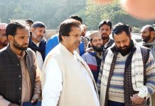 PCC leader Raman Bhalla interacting with border people in Poonch on Thursday.