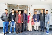 Staff of AIR News Jammu posing on foundation day.