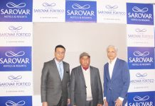 Dignitaries during opening of second hotel of Sarovar Hotels Private Limited in Jammu.