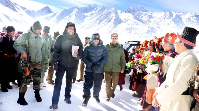 Lieutenant Governor Ladakh RK Mathur during visit to Zanskar Valley on Sunday.