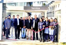 Anurag Kumar, Zonal Service Head of Hyundai Motor India Limited inaugurating a free car care clinic camp at Jammu on Sunday.