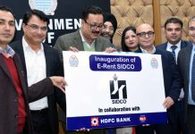 Principal Secretary Industries Navin Choudhary launching e-Rent SIDCO.