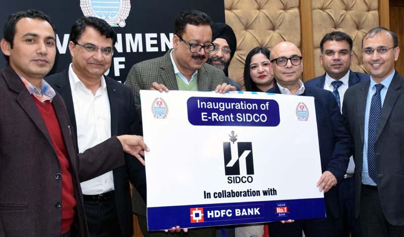 Principal Secretary Industries Navin Choudhary launching e-Rent SIDCO.