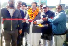 Former Minister and Vice President PCC Raman Bhalla inaugurating Ratna Hotel and Restaurant at Ward Number 12, Bari Brahmana.