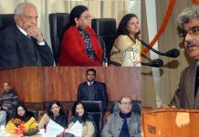 Financial Commissioner Health, Atal Dulloo speaking during a programme in Jammu on Friday.