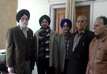 Members of JKSAC and Secretary DM&RRR Simrandeep Singh posing for photograph after meeting on Friday.
