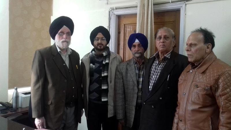 Members of JKSAC and Secretary DM&RRR Simrandeep Singh posing for photograph after meeting on Friday.