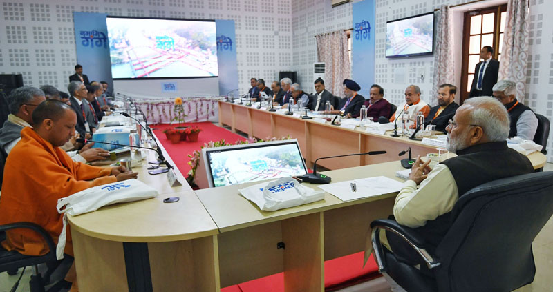 Prime Minister, Shri Narendra Modi attends the Ganga Council Meeting, in Kanpur on Saturday.