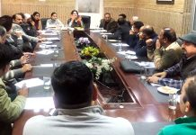 Deepika K Sharma, Director Tourism, Jammu expressing her views during meeting.
