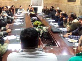 Deepika K Sharma, Director Tourism, Jammu expressing her views during meeting.