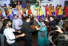 Principal, GMC Jammu, Dr Sunanda Raina shaking her legs along with students during a cultural programme in the College premises.