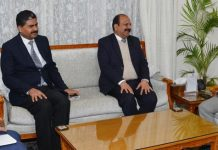 Lt Governor meeting Sh. Yogesh Chander Modi, Director General, National Investigation Agency (NIA)