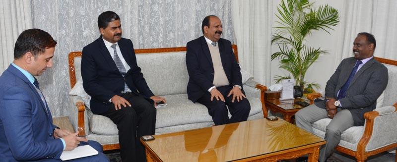 Lt Governor meeting Sh. Yogesh Chander Modi, Director General, National Investigation Agency (NIA)