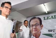 Former Union minister and senior Congress leader P Chidambaram and party MP Gaurav Gogoi (front) during a leadership training camp on CAA-NPR-NRC at Pradesh Congress office, in Kolkata.