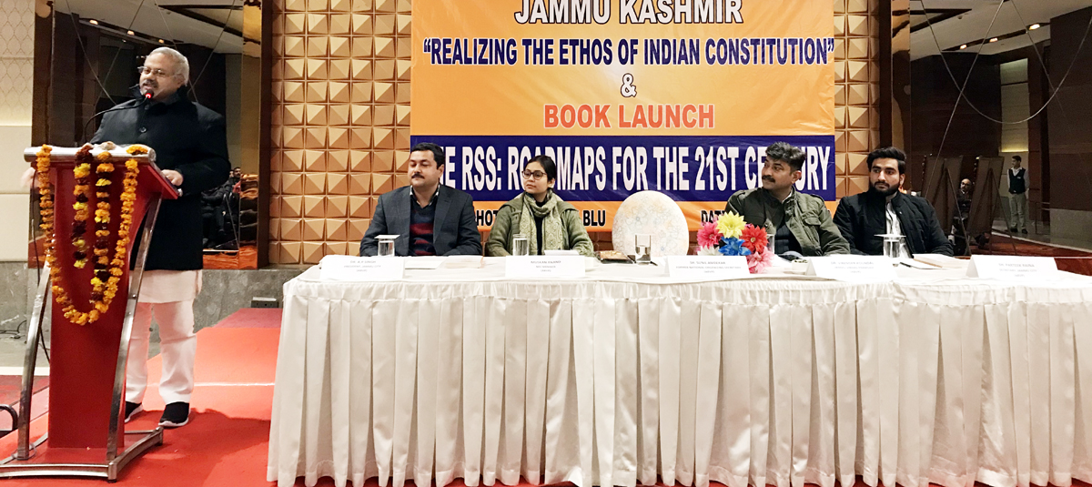 A dignitary expressing his views during seminar.