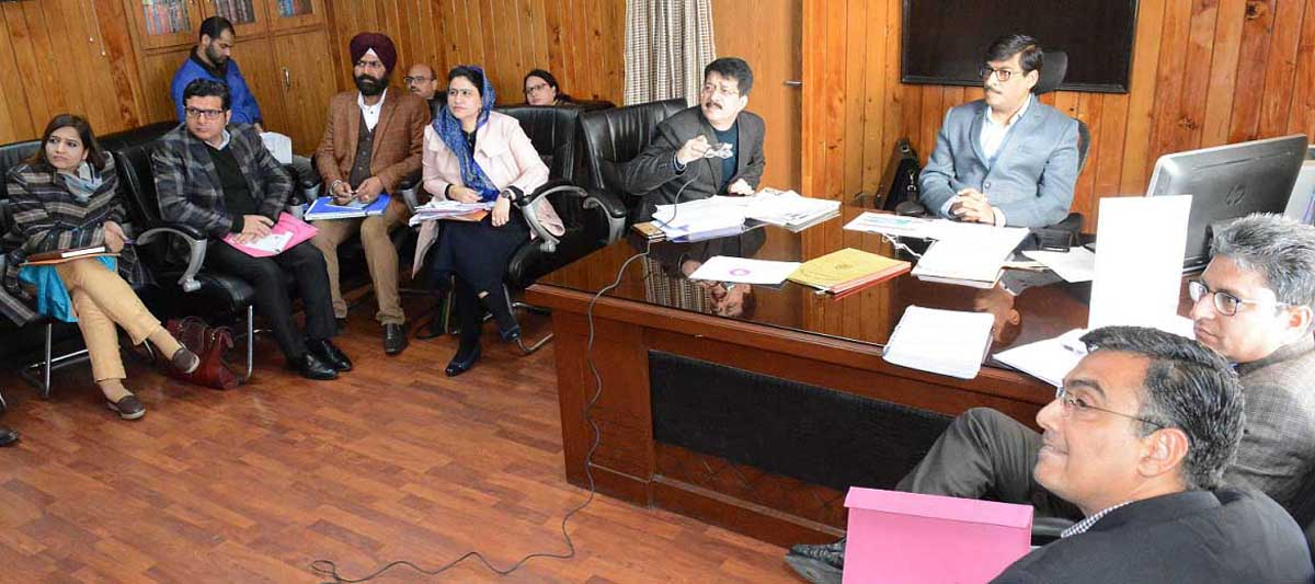Financial Commissioner, Finance, Dr Arun Kumar Mehta chairing a meeting on Thursday.