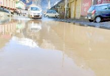 Water logging in Mandi town.