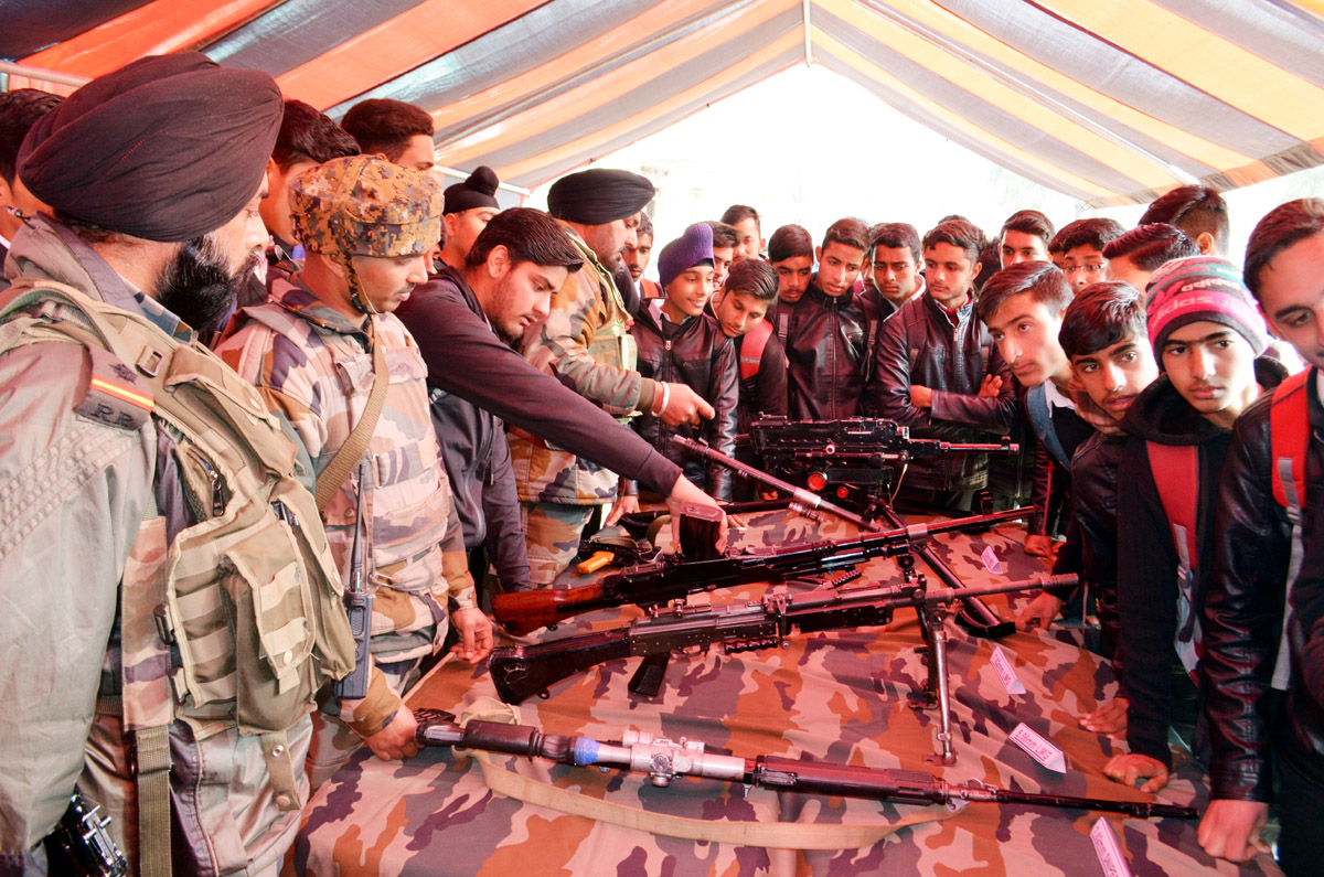Romeo Force displaying weapons & equipments during Army Day celebrations at Mendhar. —Excelsior/Rahi Kapoor