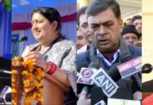 Union Ministers Piyush Goyal, Smriti Irani, R K Singh and Anurag Thakur addressing programmes at different places in Jammu on Sunday.