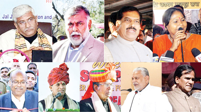 Nine Union Ministers addressing functions at various places in Jammu region on Wednesday.