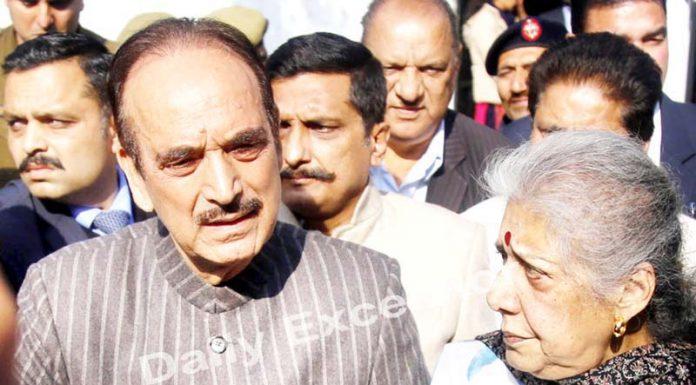 AICC general secretary Ghulam Nabi Azad, talking to mediapersons in Jammu on Thursday.-Excelsior/Rakesh