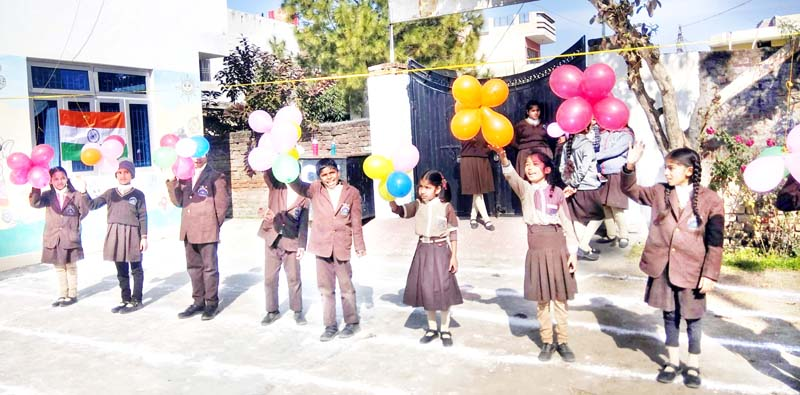 Children presenting colourful activity during Sports Day celebration at IMA, RS Pura in Jammu.