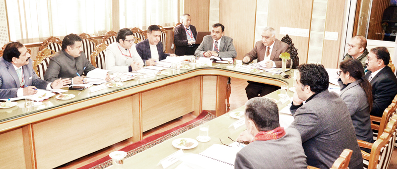 Dr Ashok Bhan, Member SMVDSB chairing Governing council meeting of Shrine Board's Sports complex at Katra.