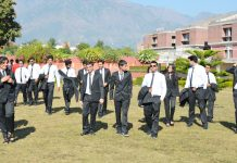 Students during campus placement drive at SMVDU Katra.