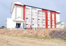 Outside view of Bhagwati Nagar indoor Stadium.